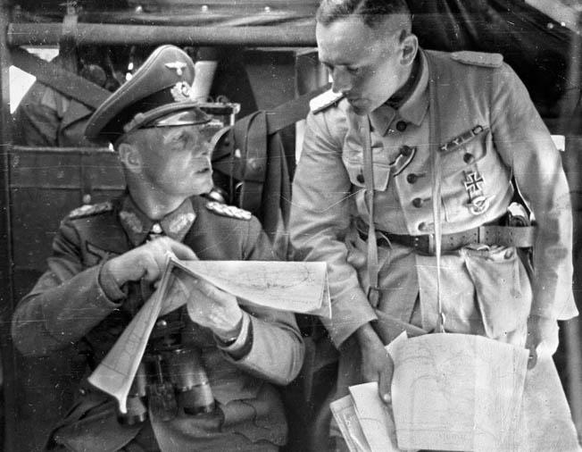 Erwin Rommel during the battle for Tobruk, 1941. (Tumblr)