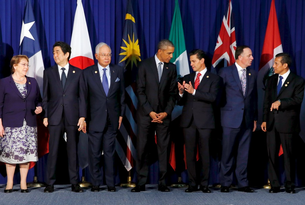 Members of the Trans-Pacific Partnership (Jonathan Ernst/Reuters)