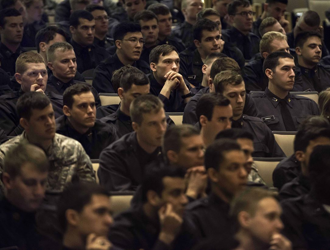 Cadets in Thayer Hall at the U.S. Military Academy at West Point, N.Y., March 27, 2014. (DoD Photo)