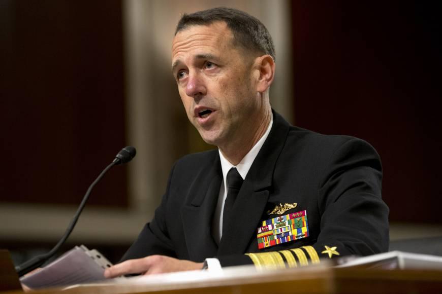Adm. John Richardson testifies on Capitol Hill. (AP)