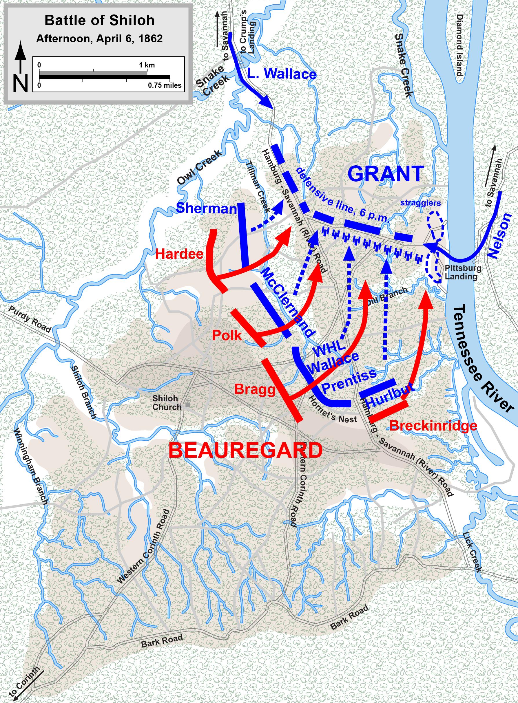 Shiloh Battle April 6, (Hal Jespersen/Wikimedia)