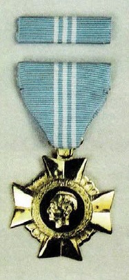 Medal and Ribbon of the Armed Forces of the Philippines (AFP) Gold Cross (Wikimedia)