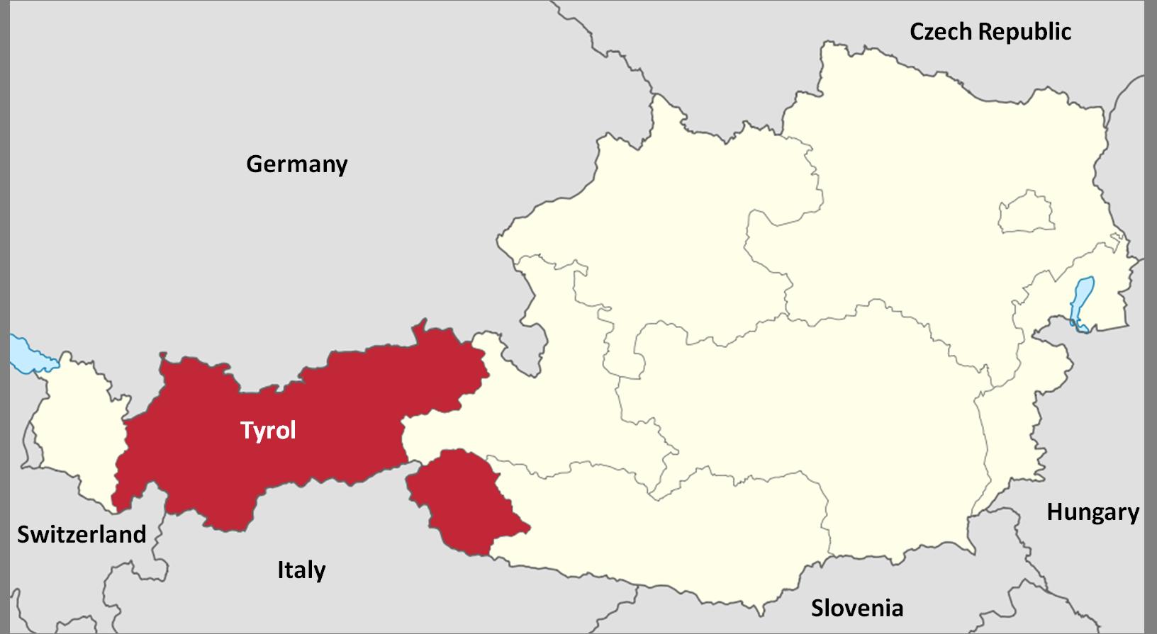 Tyrol and South Tyrol (Wikimedia)