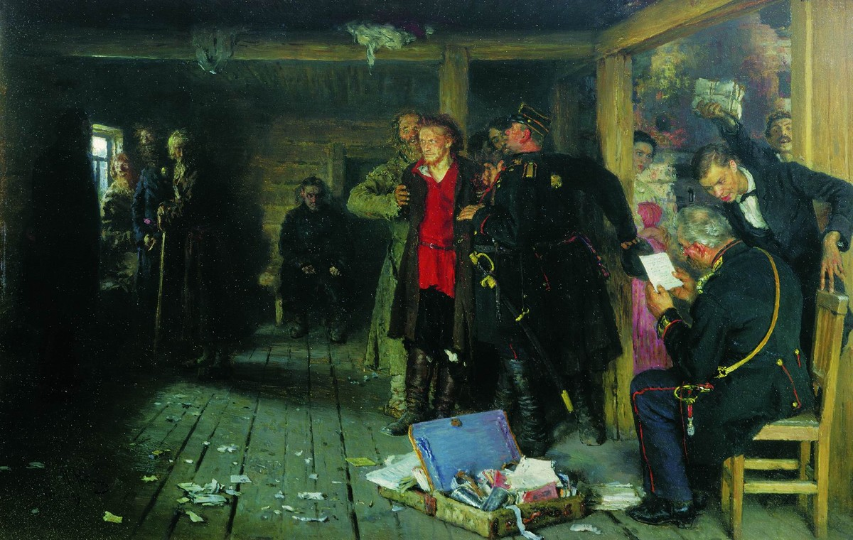 """Arrest of a Propagandist"" by Ilya Repin (Wikimedia)"