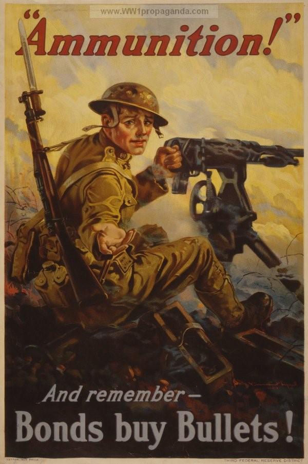 World War I poster advertising American war bonds (World War I Propaganda Posters)