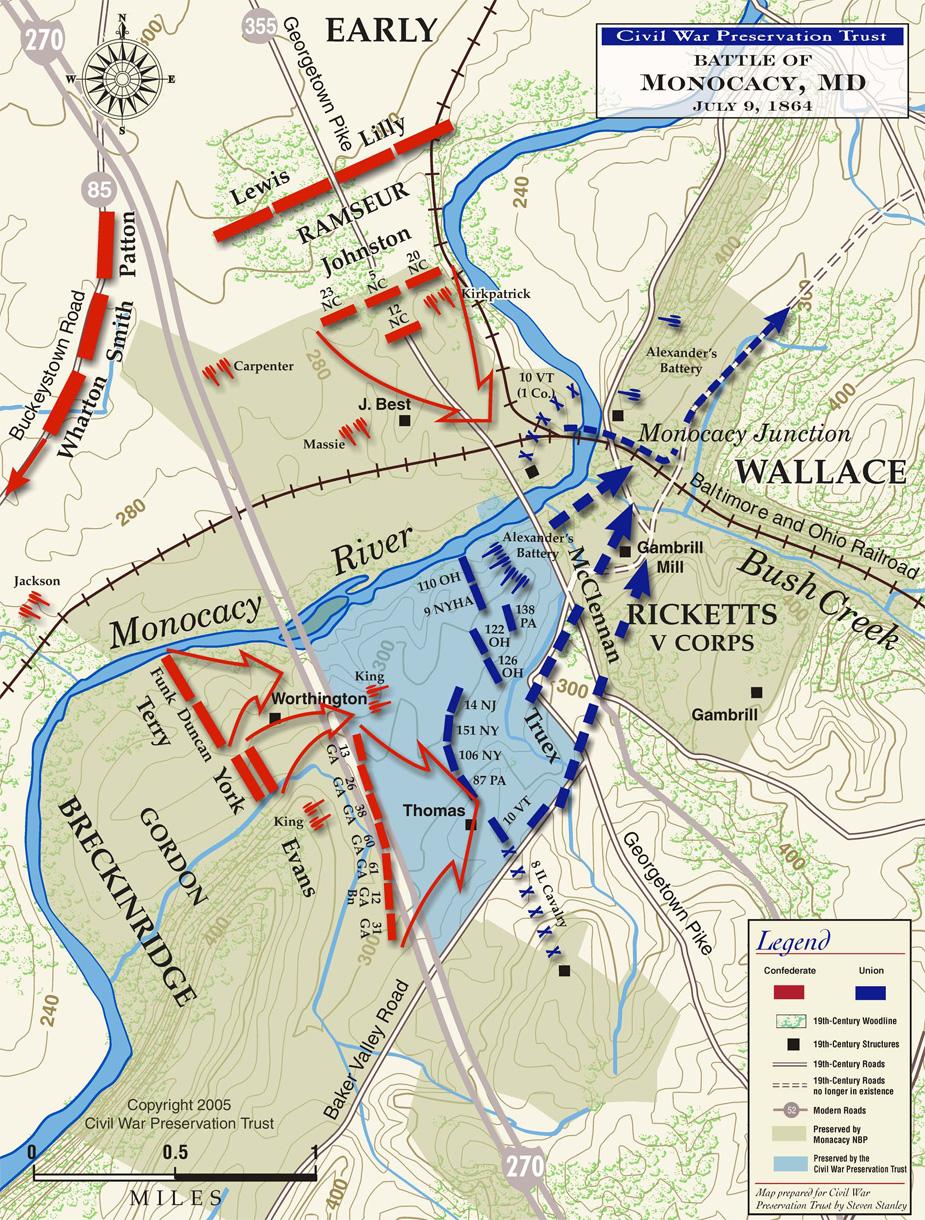 Monocacy Battlefield Map (Civil War Preservation Trust)