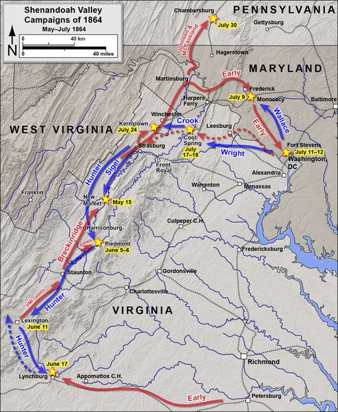 The Shenandoah Valley Campaign, of which Monocacy was a part (Civil War Preservation Trust)