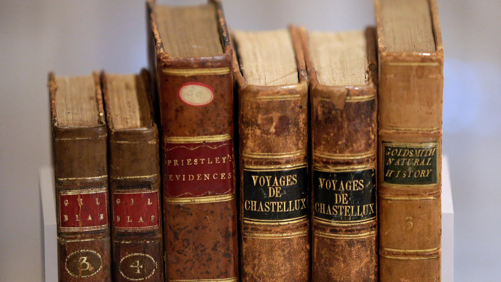 Books that belonged to George Washington. (Win McNamee/Getty Images)