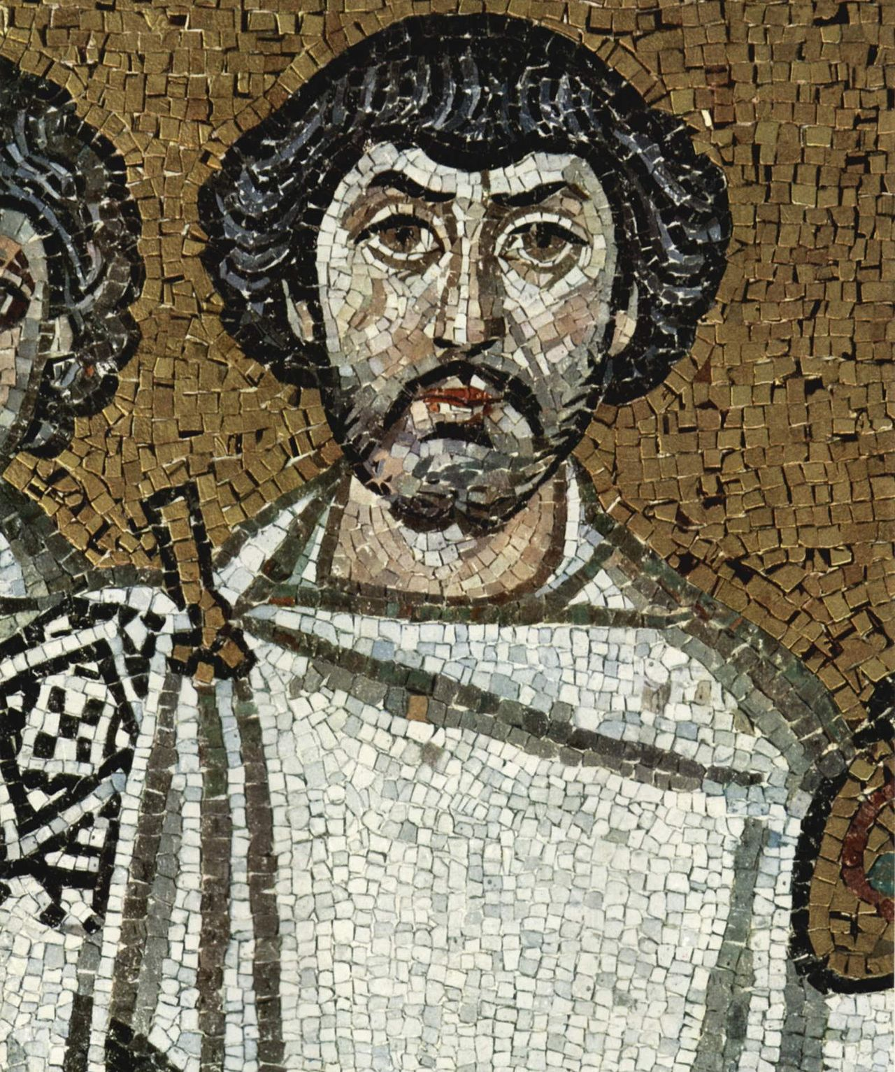 Mosaic of Belisarius in the Cathedral at Ravenna by Meister von San Vitale (Wikimedia)