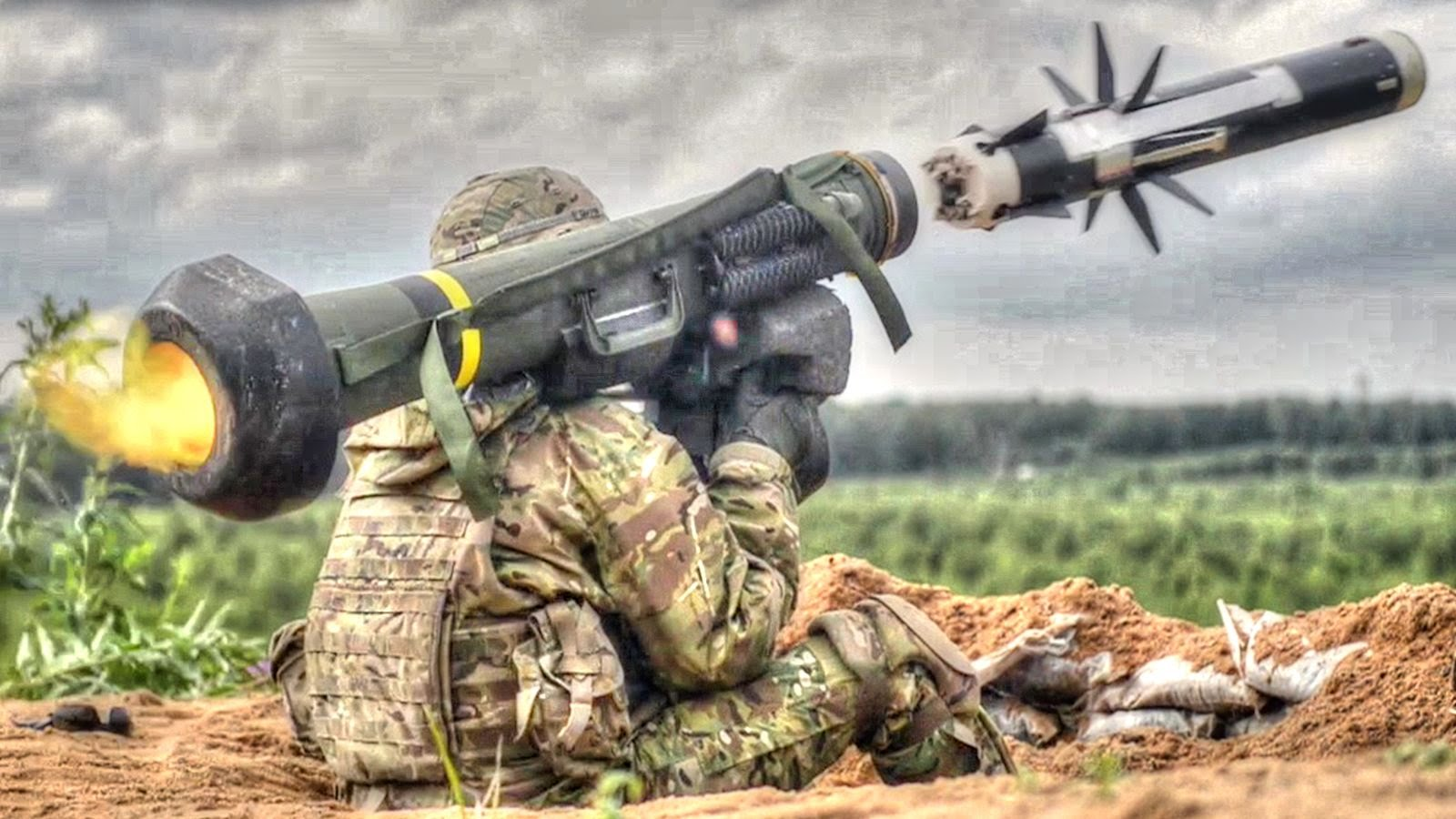 Soldiers with 2nd Cavalry Regiment fire FGM-148 Javelin anti-tank missiles during a combined arms live fire training exercise at the Estonian Defense Forces central training area in Estonia. (Ben Houtkooper/Aiir Source Military/YouTube)
