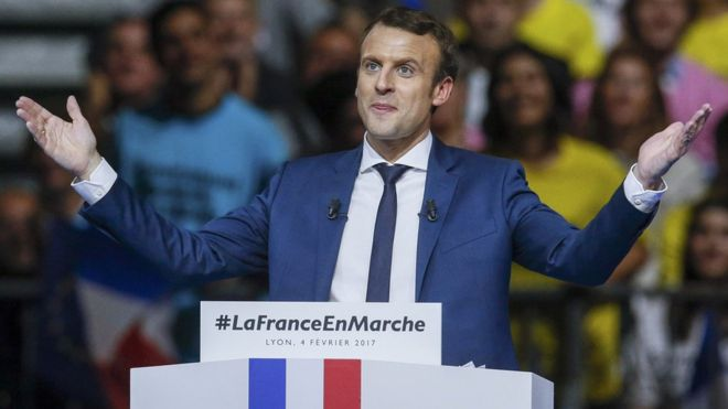 Emmanuel Macron in 2017 (Reuters)