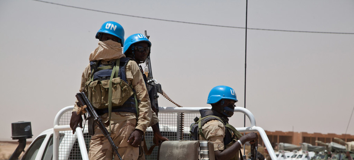 UN peacekeepers on patrol in Kidal, Mali. (Blagoje Grujic/United Nations)