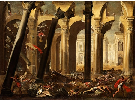 """Sampson Destroys the Temple of the Philistines"" (Domenico Gargiulo)"