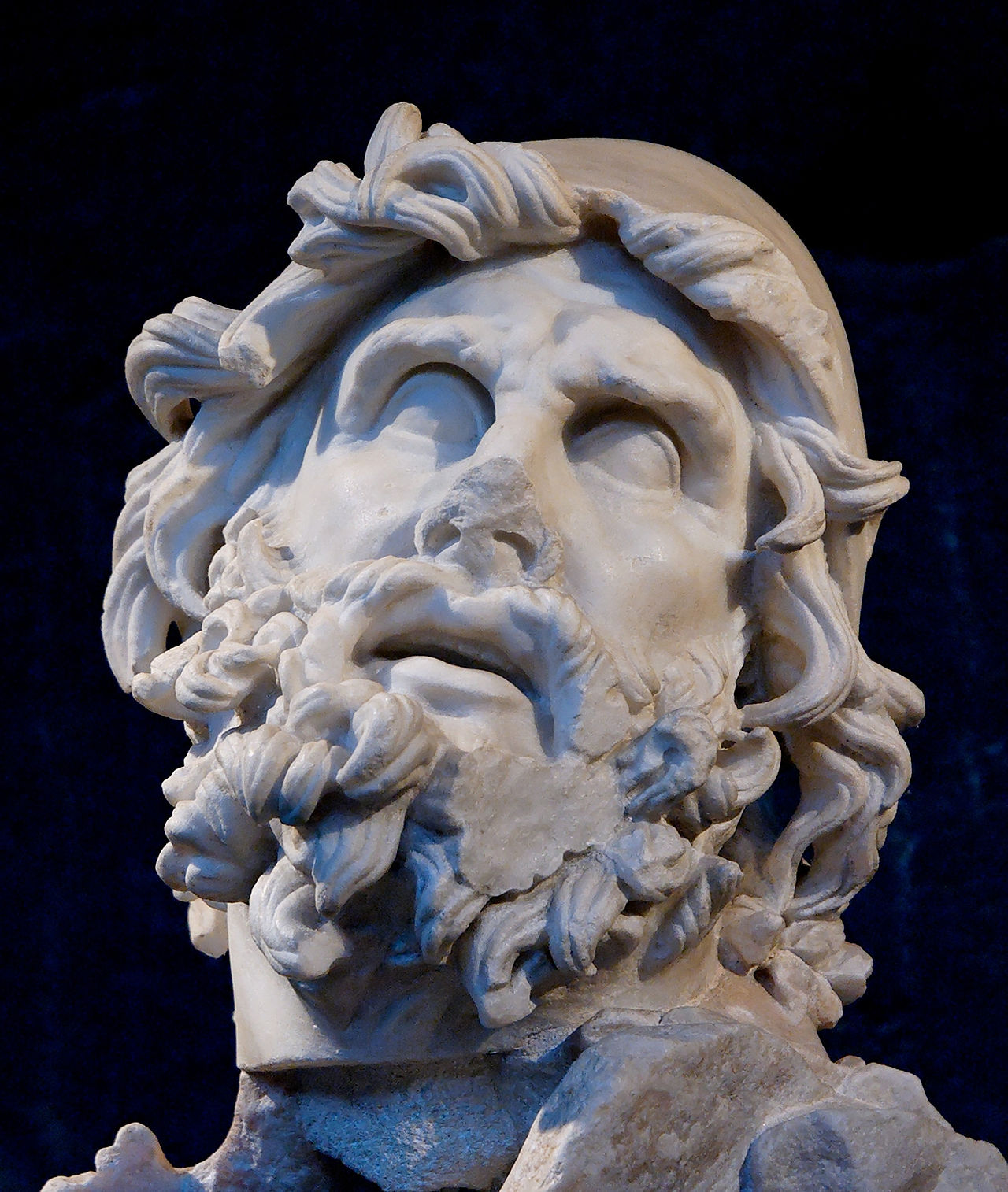 Head of Odysseus from a sculptural group representing Odysseus blinding Polyphemus. (Wikimedia)