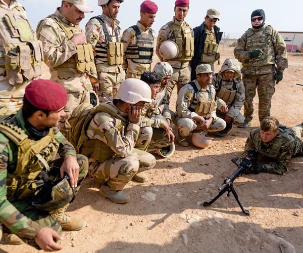 British Army training Iraqi Security Forces (MOD)