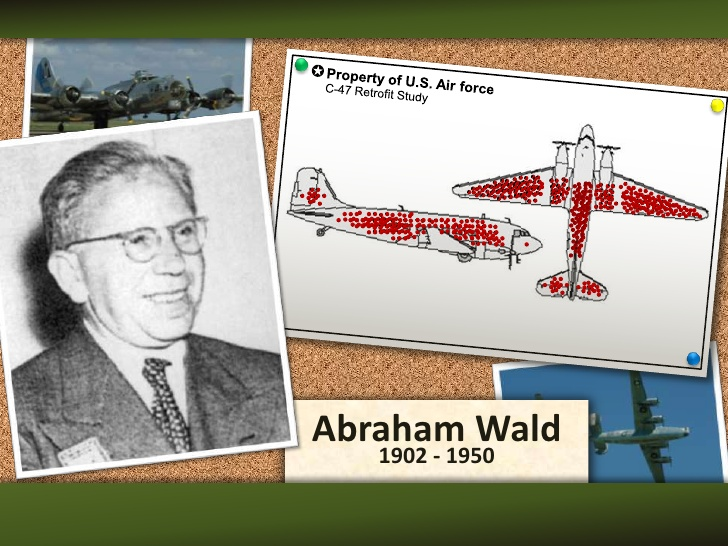 Abraham Wald and his study of aircraft armor (Slideshare)
