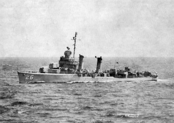 The U.S. Navy destroyer minesweeper USS Hobson underway in 1948. (U.S. Navy Photo/Wikimedia)