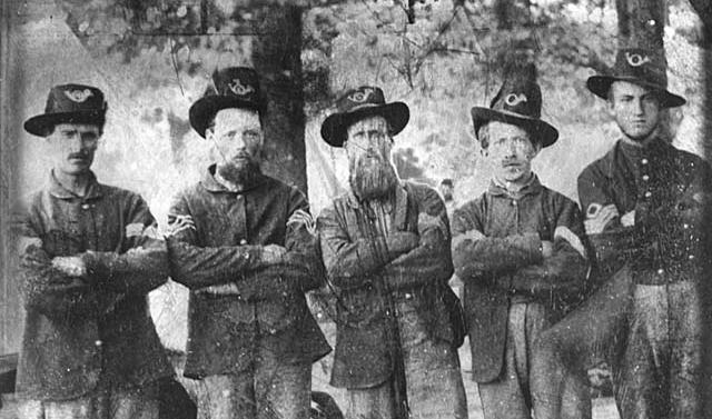 Members of the 3rd Minnesota Regiment, Company F, in Nashville, 1862. (MinnPost)