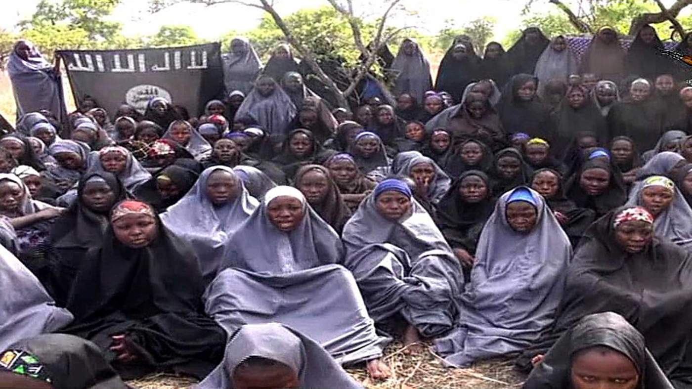 Image of the girls abducted in Nigeria in 2014. (Telegraph)