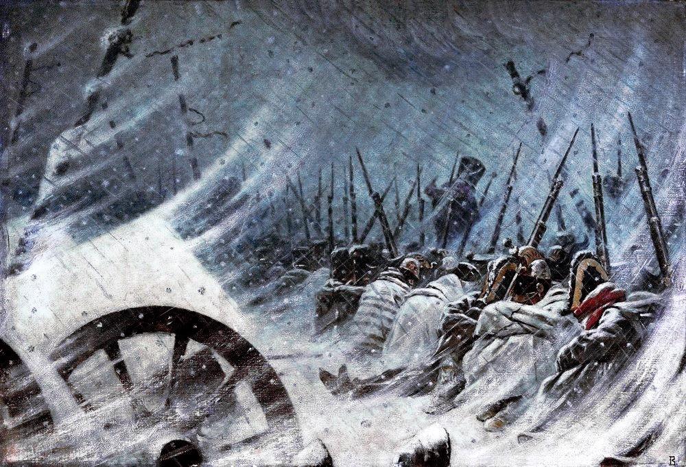 """The Night Bivouac of Napoleon's Army"" painted by Vasily Vereshchagin (Wikimedia)"