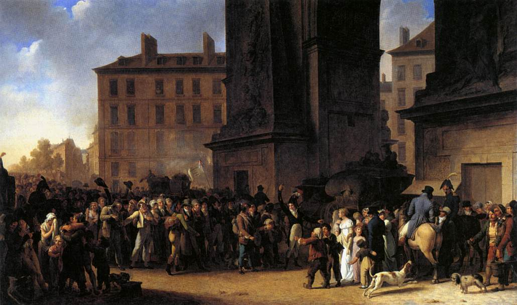 """""""Departure of the Conscripts of 1807"""" painted by Louis-Léopold Boilly (Wikimedia)"""