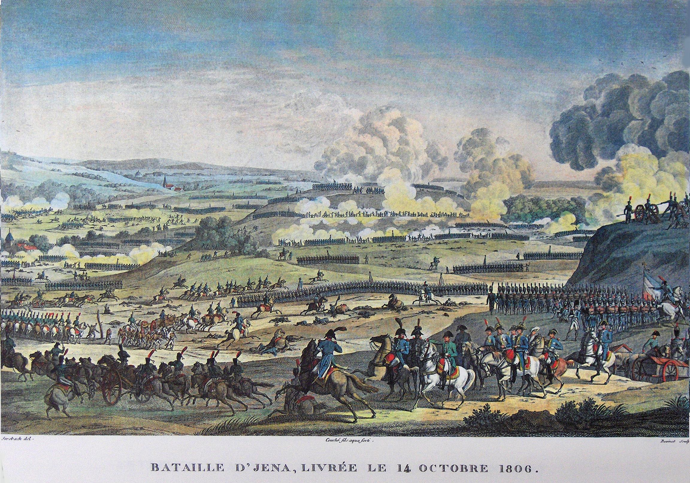 """""""Battle of Jena """" by Antoine Charles Horace Vernet and Jacques François Swebach (Wikimedia)"""