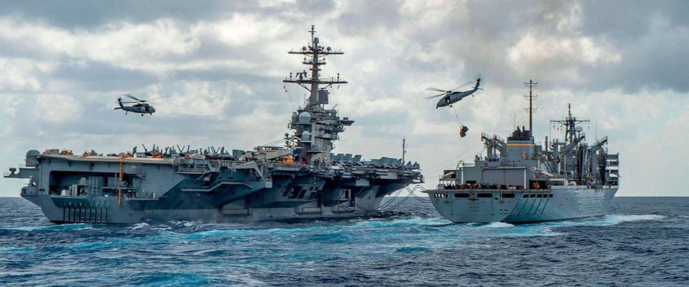 USS Abraham Lincoln has been sent to the Persian Gulf amid tensions with Iran. (Jason Waite/Getty Images)