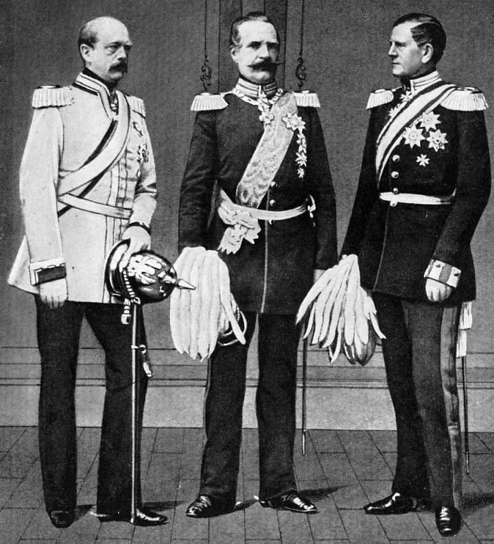Albrecht von Roon with Otto von Bismarck and Helmuth von Moltke (Wikimedia)