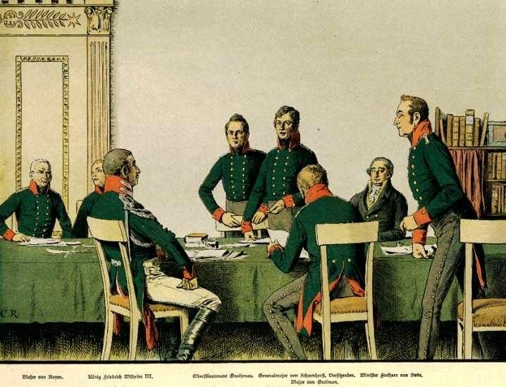 Meeting of the reformers in Königsberg in 1807 (Carl Röchling/Wikimedia)