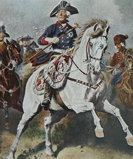Frederick the Great, painted by Richard Knötel. (Wikimedia)