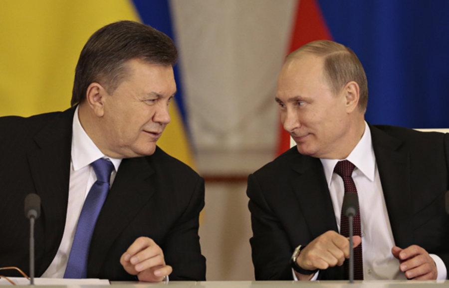 Viktor Yanukovych, shown with Russian President Vladimir Putin in 2013 (Ivan Sekretarev/AP)