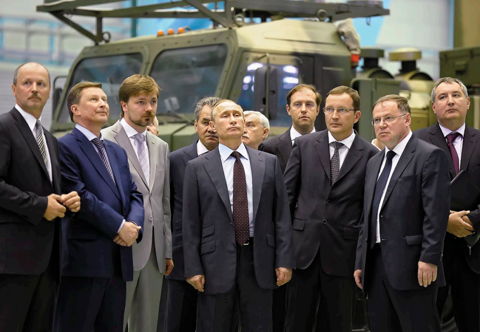 Russian President Validimir Putin and his oligarch colleagues (Global Business Outlook)