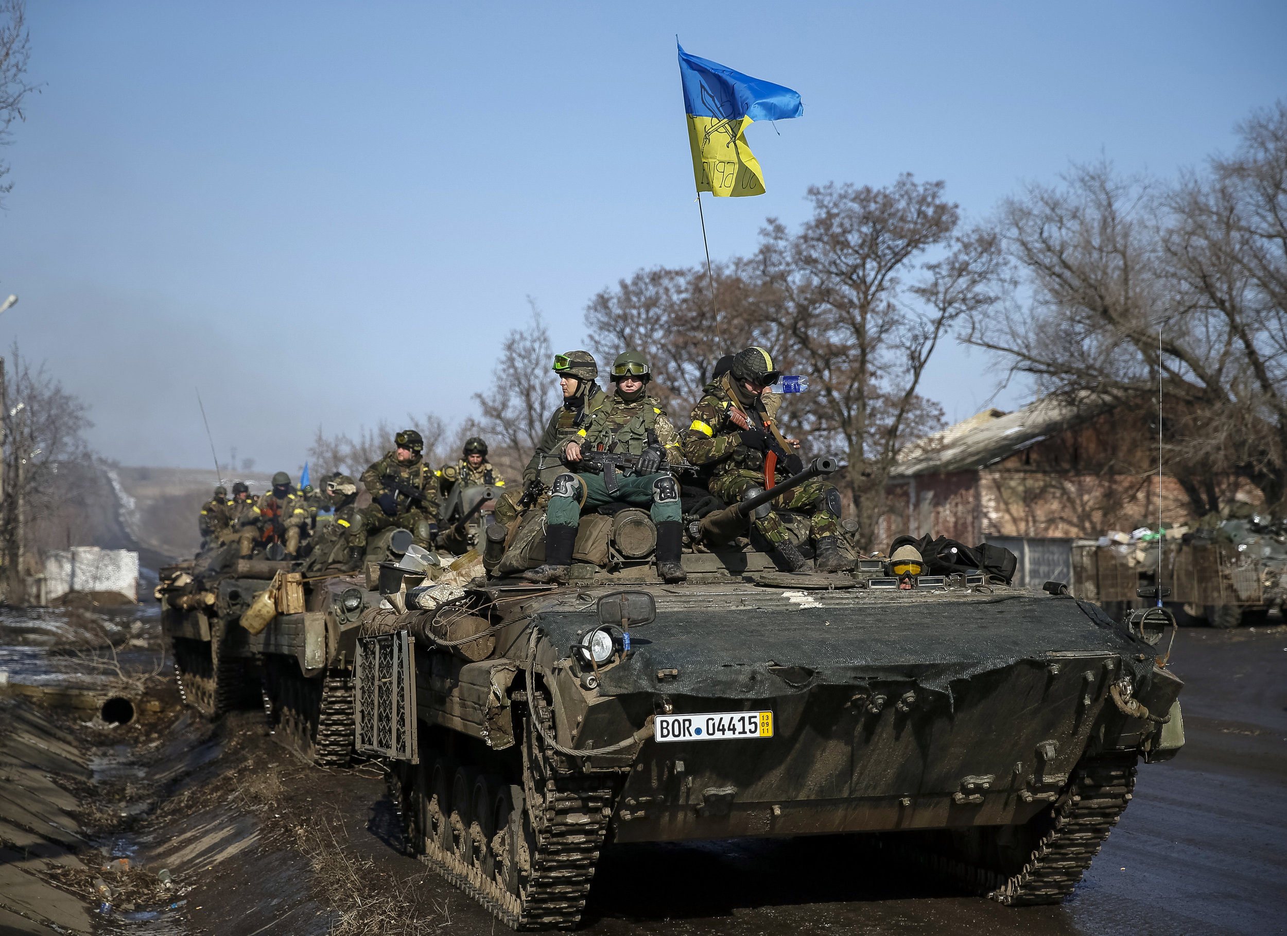Russian advances in Donbas forced Ukraine to make concessions in the truce agreed February 12, 2015. (Gleb Garanich/Reuters)