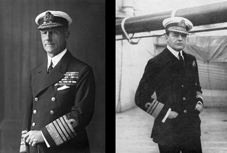 Admirals John Jellicoe and David Beatty (Wikimedia)