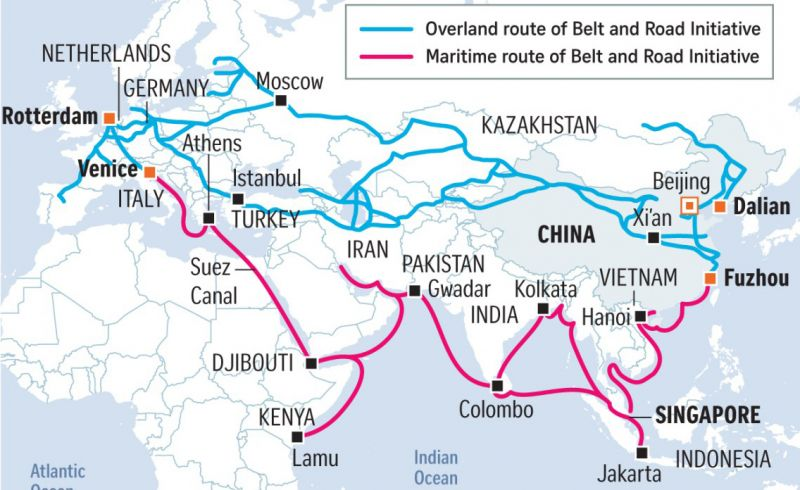 China's Belt and Road Initiative (Straits Times)