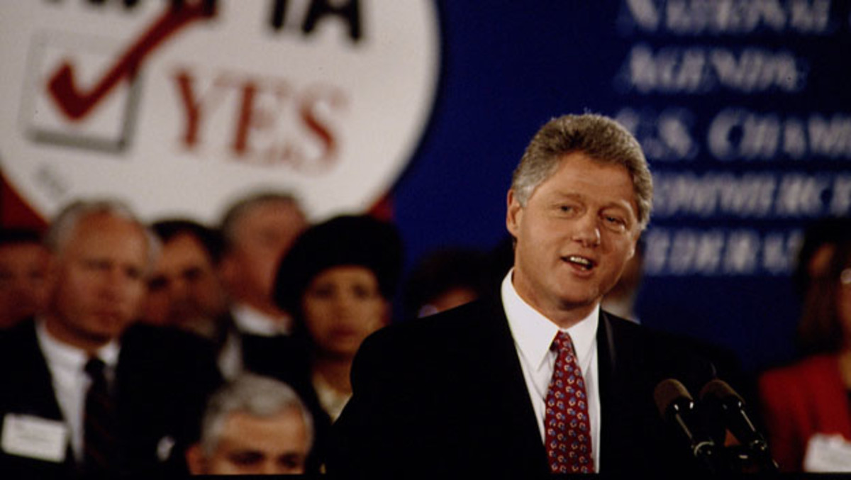 President Clinton (Jeffrey Markowitz/Getty Images)