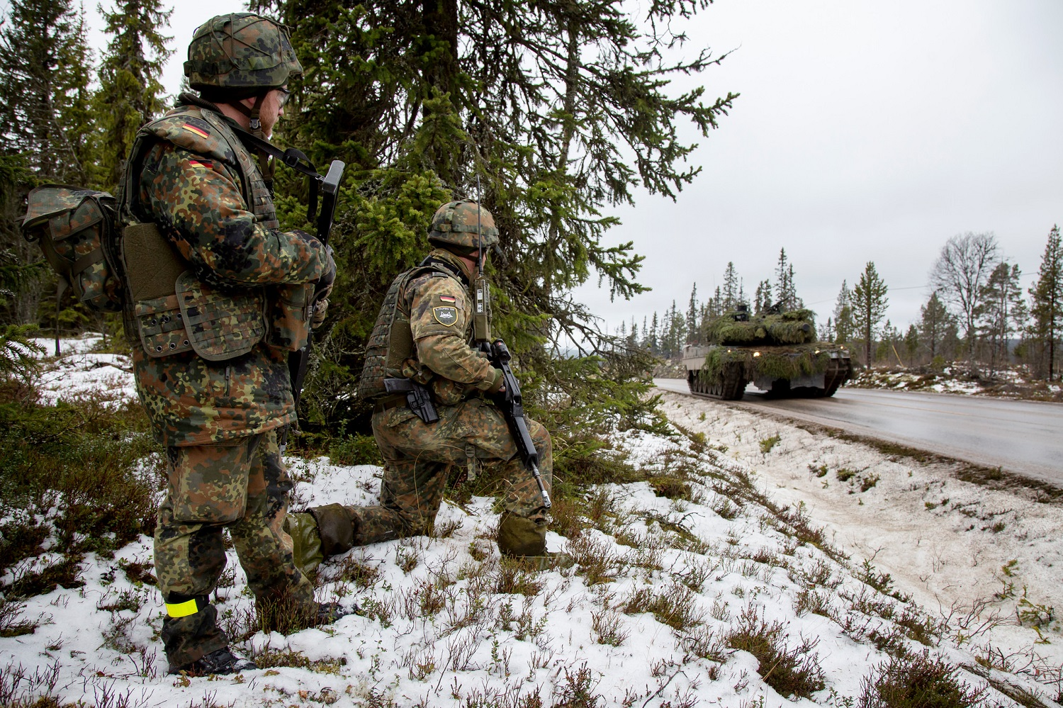 German soldiers as part of the Very High Readiness Joint Task Force during Trident Juncture 2018 (Bundeswehr)