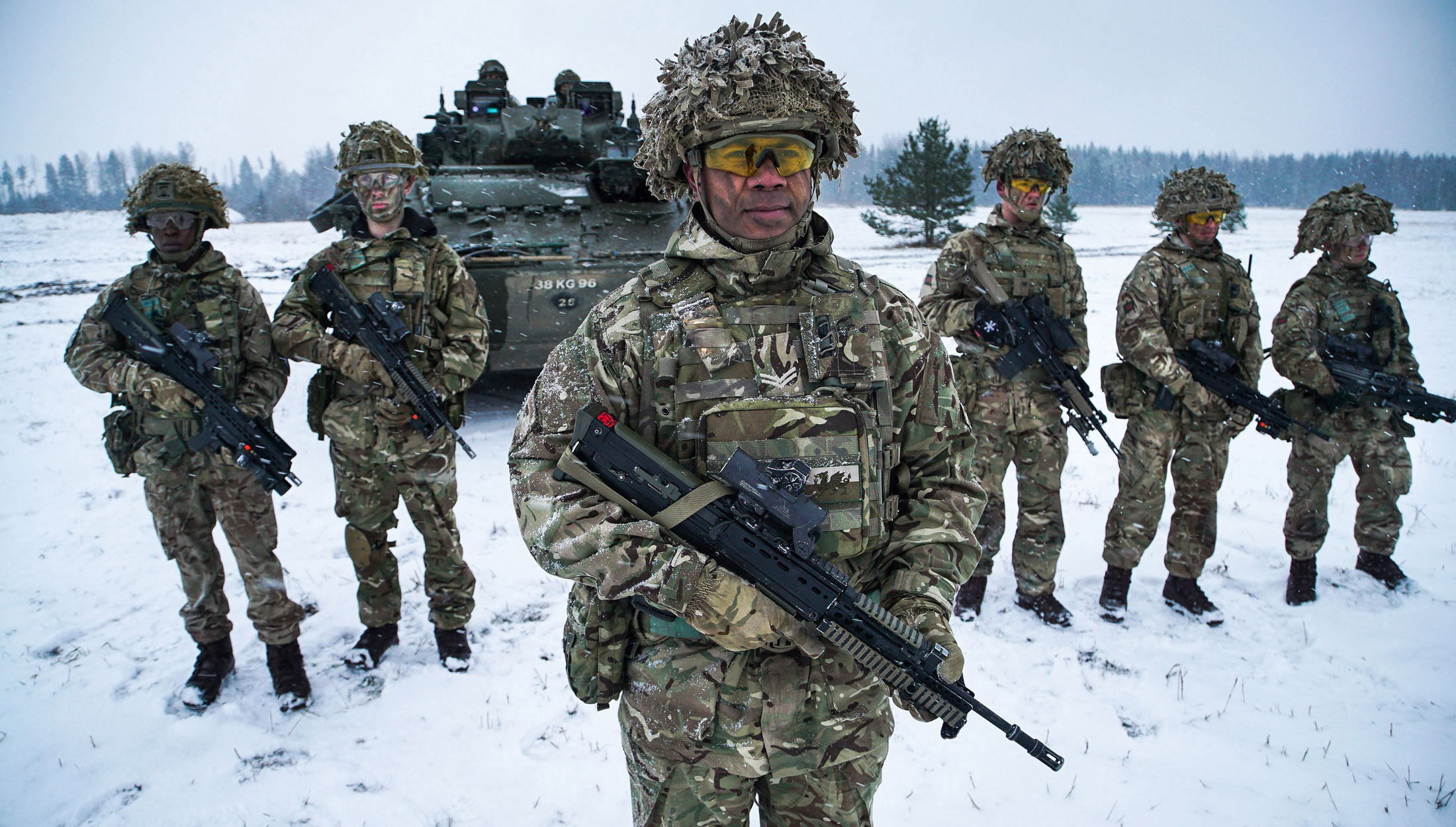 Members of the Royal Welsh Regiment as part of the NATO Enhanced Forward Presence (NATO)