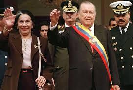 Raphael Caldera , President of venezuela, during his second term. (Reuters)