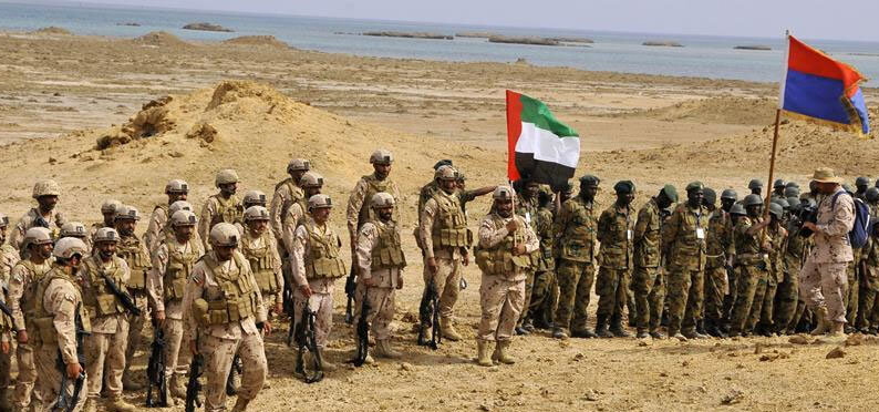 The UAE and Sudan conducting joint military exercises in 2017 (Xinhua)