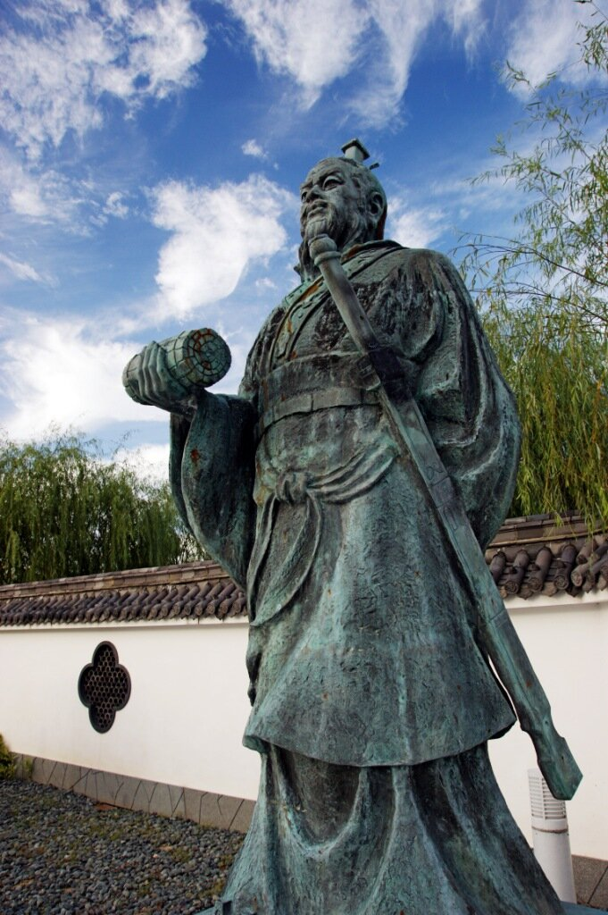 Statue of Sun Tzu in Yurihama, Tottori, in Japan (Wikimedia)