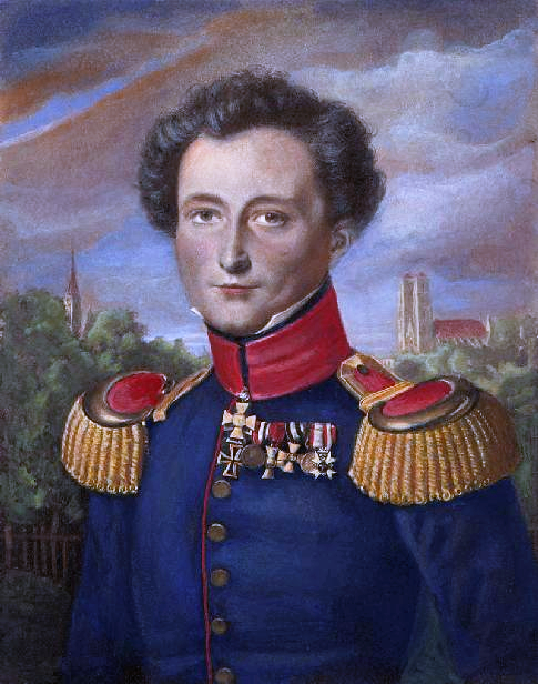 Carl von Clausewitz, painted by  Carl Wilhelm Wach (Wikimedia)