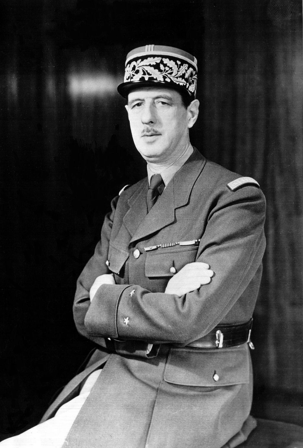 De Gaulle during World War II. (Wikimedia)