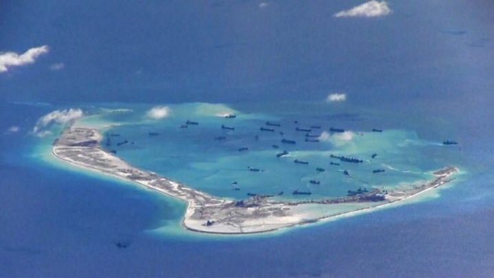 Disputed South China Sea islands (BBC)