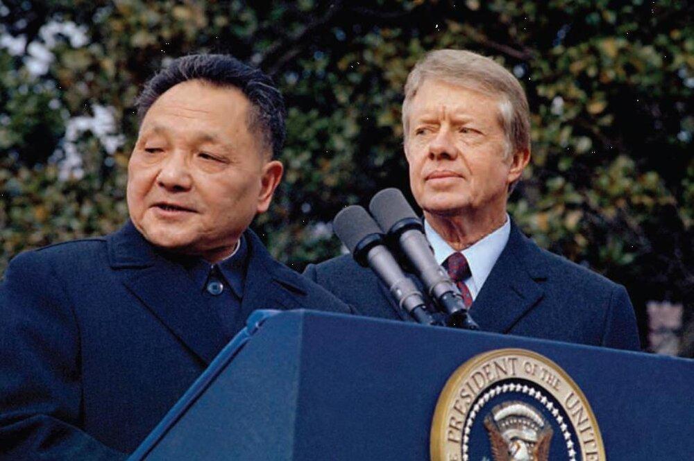 Chinese Vice Chairman Deng Xiaoping and President Jimmy Carter in Washington, 1979 (AP)