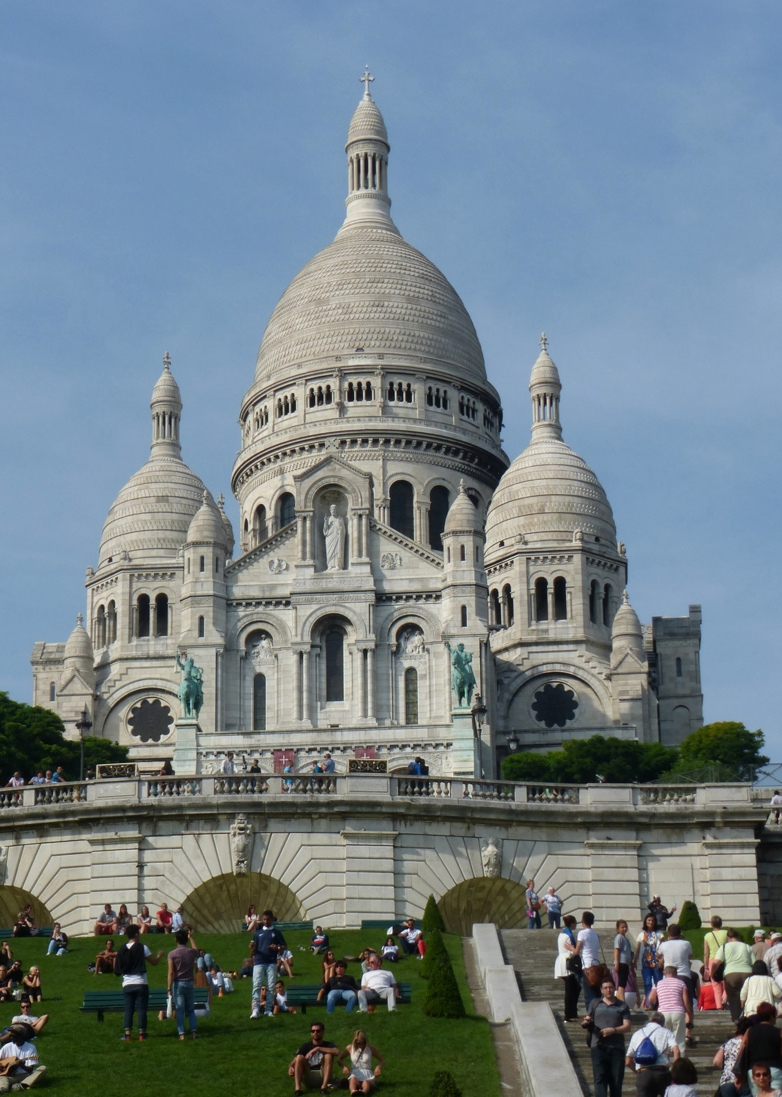 Sacre Coeur rising high above Montmartre.