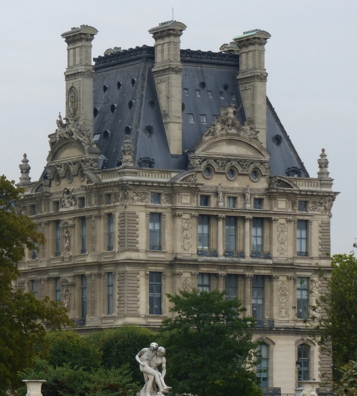 One of the buildings of the Louvre that once was a palace.