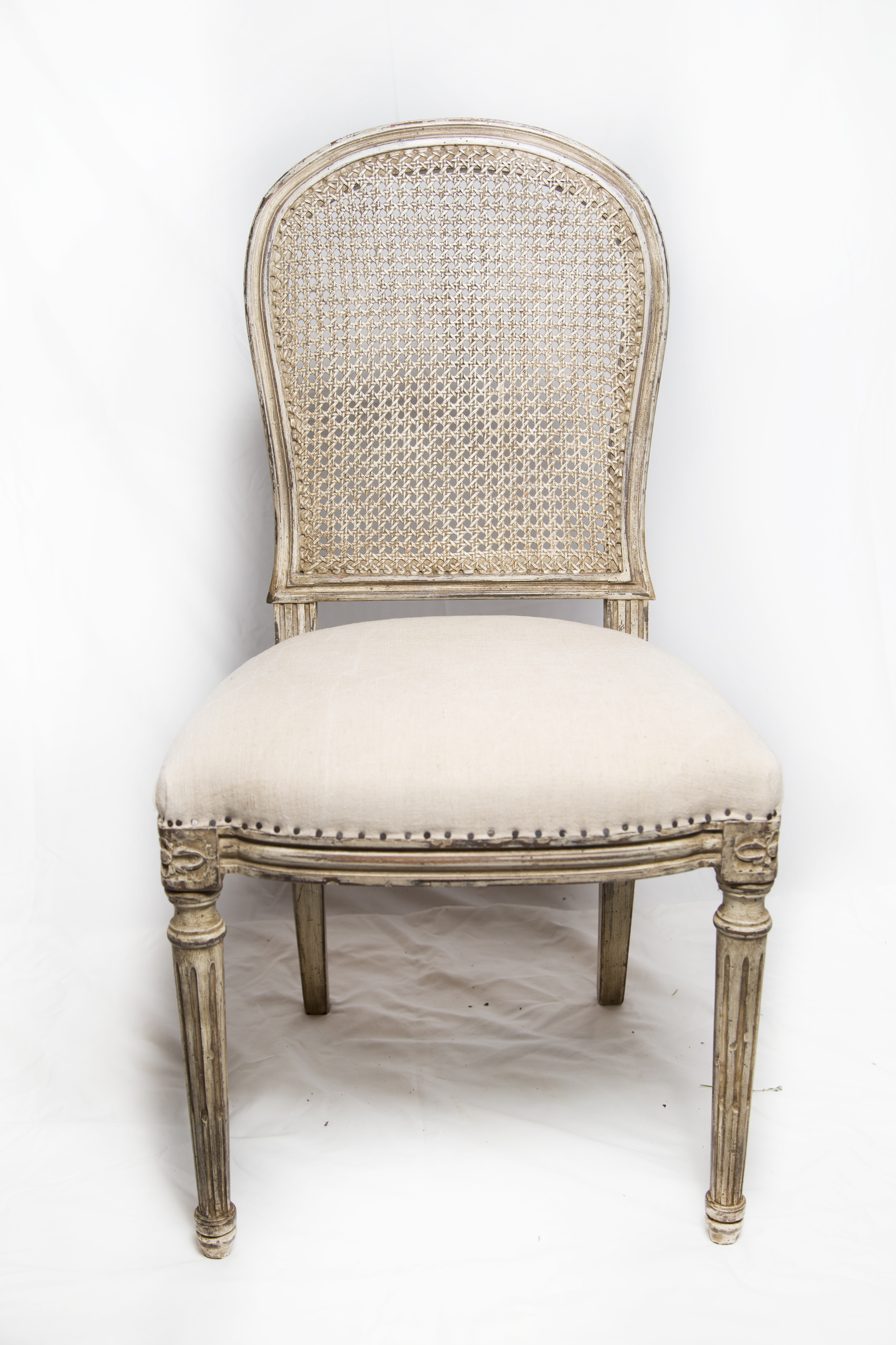 One of six Parisian chairs we found in Les Puces in Paris. Love this finish!