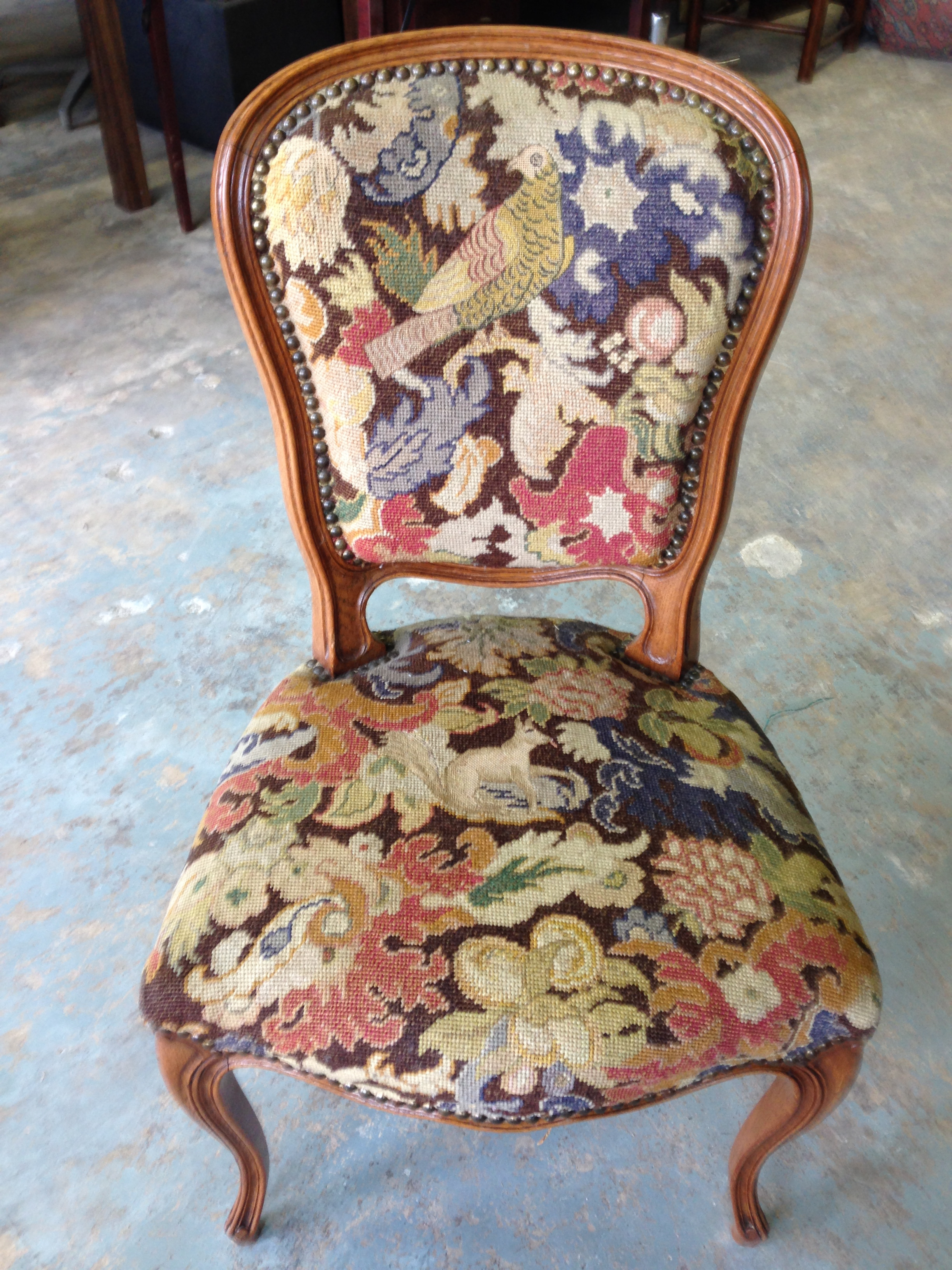 Wonderful set of six French dining chairs.