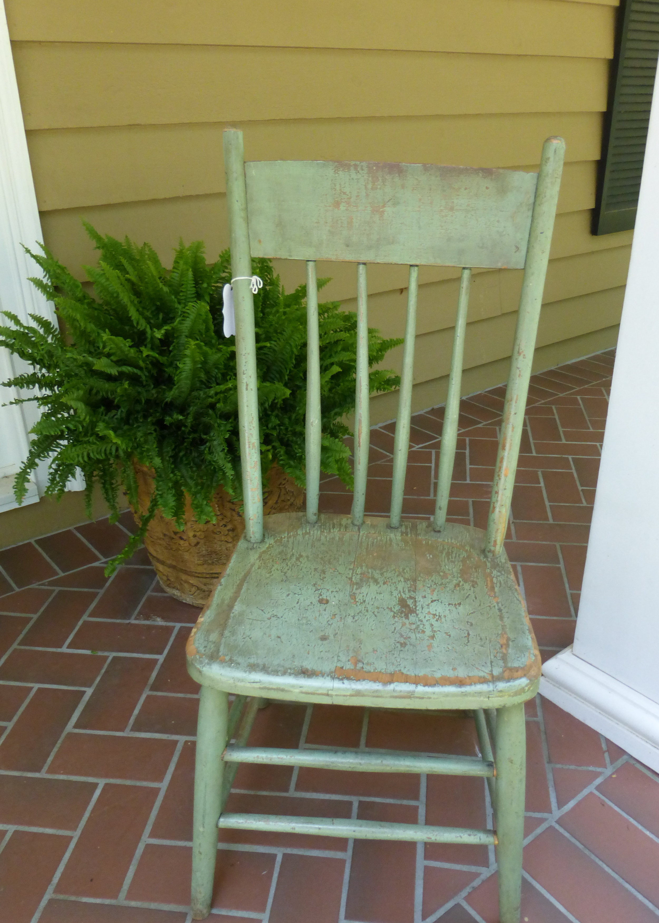 Old Chippy Oak Chair with original paint.